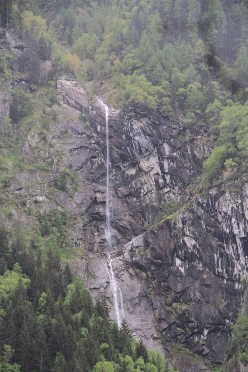 This tall but thin waterfall was the fourth waterfall that we noticed, but this was not on the Riva
