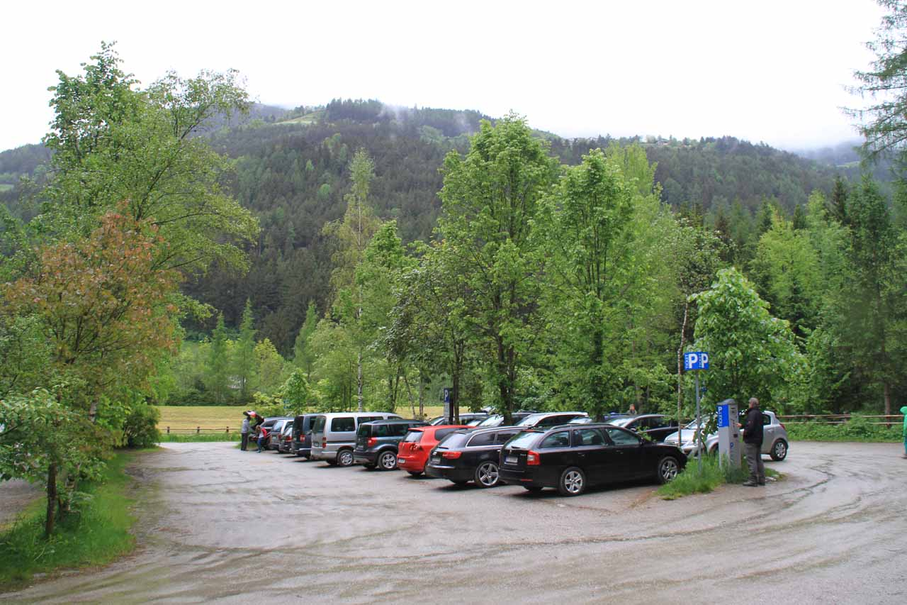 The empty car park when we started was now totally full!