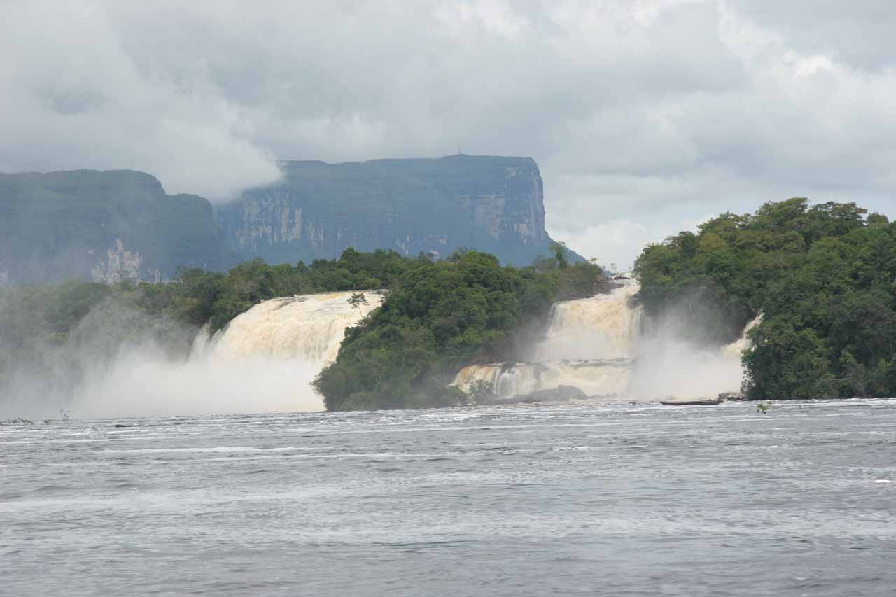 Looking back at Saltos Wadaima and Golondrina or Golondrina and Ucaima in a more swollen state when we returned to Canaima Village