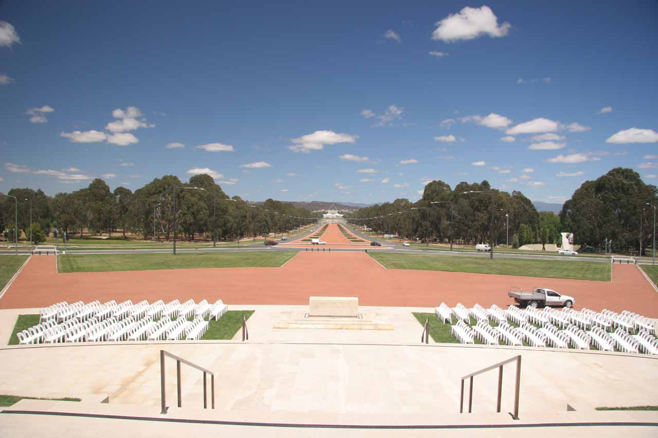 The scale of the city park in Capital Hill was immense as there were many war memorials such as the ANZAC Parade