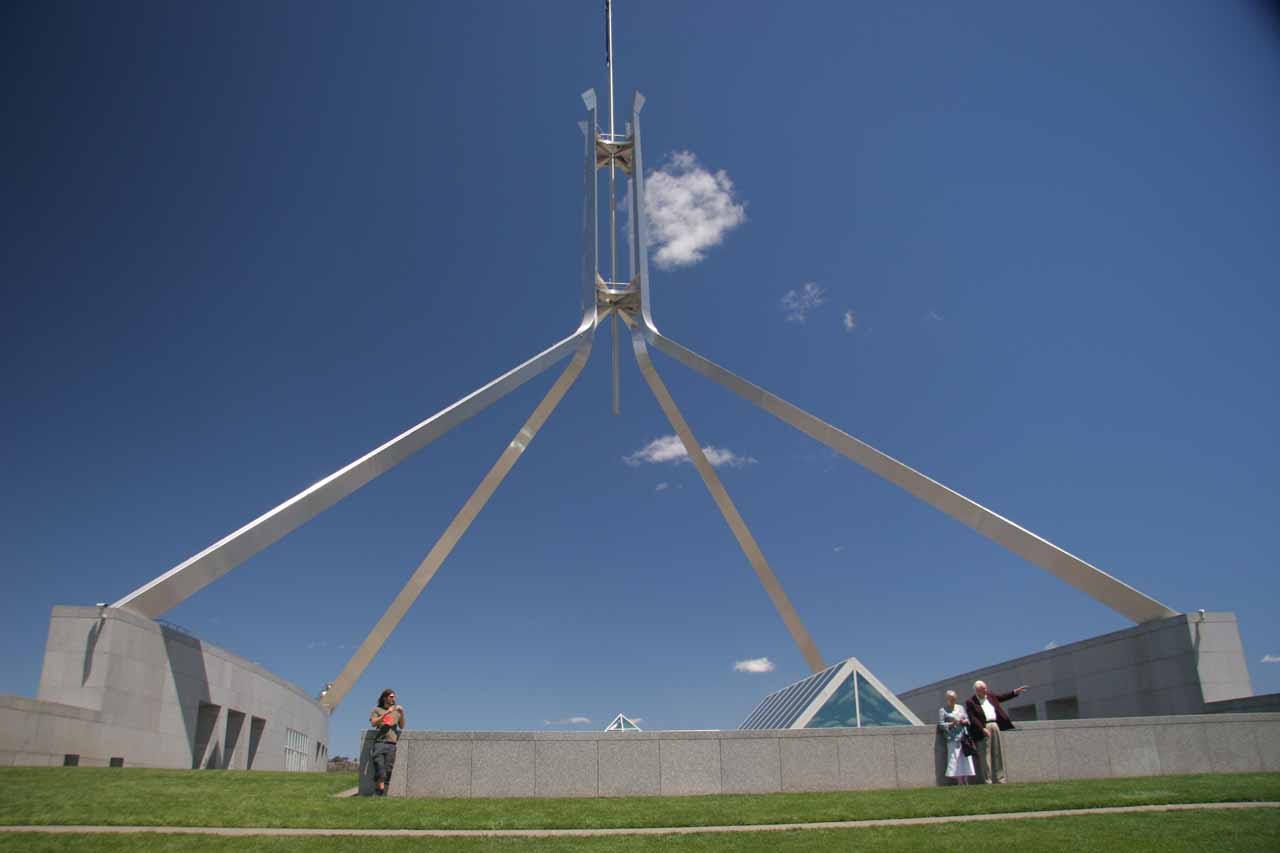 Julie and I based ourselves in Canberra (Australia's capital), which was about an hour's drive to Gibraltar Falls.  Obviously, you have to see the city centre and Parliament when you're here