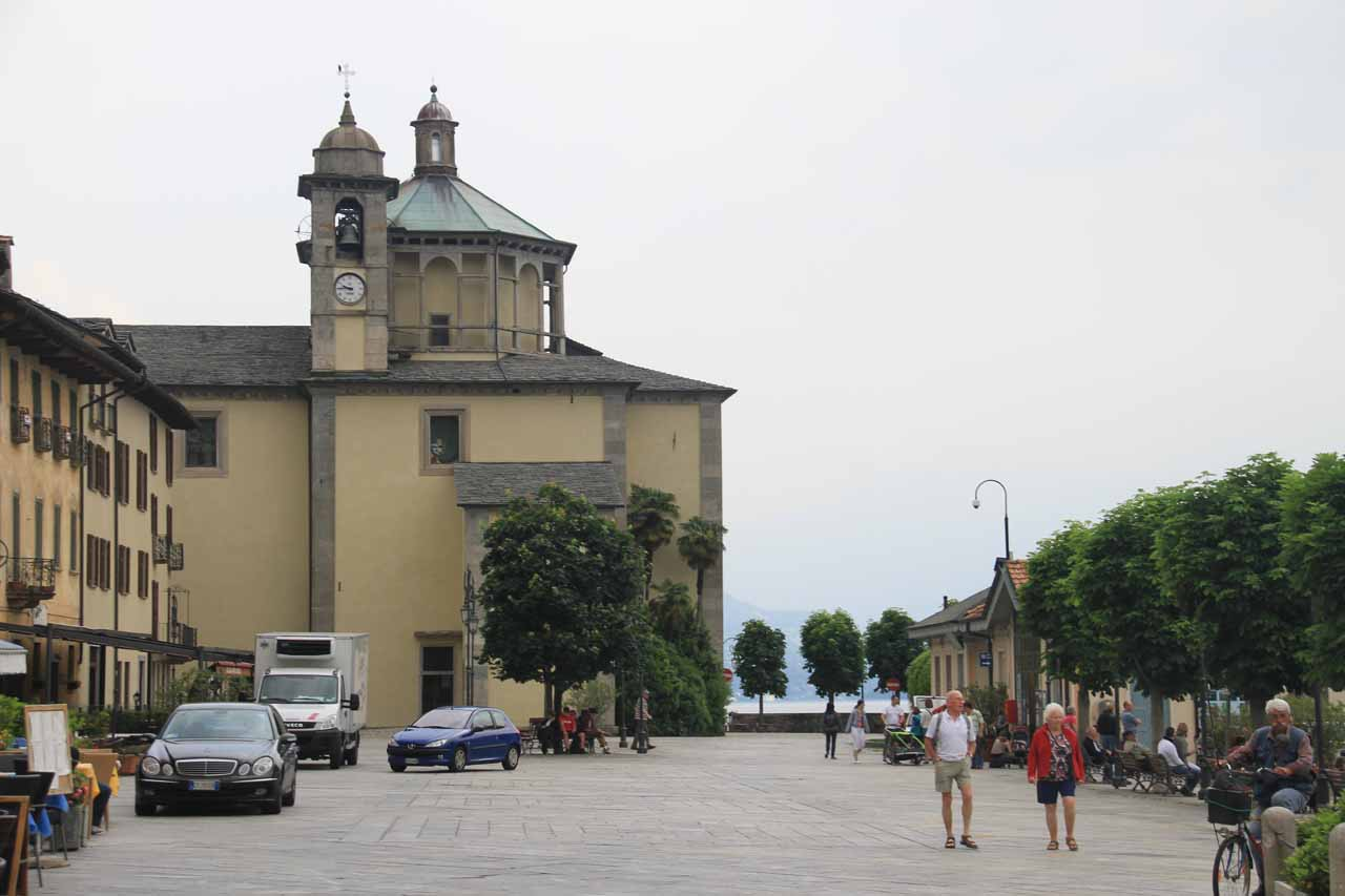Heading back towards the church by the waterfront of Cannobio