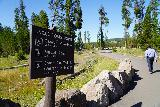 Canyon_118_08022020 - Some signage letting us know what the distances were to the nearest lookouts from Uncle Tom's Point