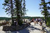 Canyon_254_08022020 - It was pretty busy at Lookout Point on the North Rim of the Grand Canyon of the Yellowstone River, but still bearable during our visit to Yellowstone in August 2020