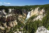 Canyon_261_08022020 - Contextual look at the Lower Falls from Lookout Point in August 2020