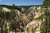 Canyon_276_08022020 - Looking upstream towards the Grand Canyon of the Yellowstone River. Note the sliver of Lower Falls seen near the top of this picture taken in August 2020