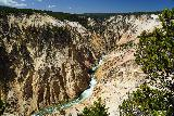 Canyon_282_08022020 - More open look from the lowermost of the lookouts of the Grand Canyon of the Yellowstone River at Inspiration Point during our August 2020 visit