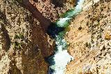 Canyon_286_08022020 - Looking down at some gushing cascades further downstream of the Lower Falls within the Grand Canyon of the Yellowstone River as seen from Inspiration Point