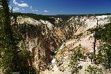 Canyon_290_08022020 - Our last contextual view of the colorful cliffs of the Grand Canyon of the Yellowstone River as seen from Inspiration Point during our visit to Yellowstone in August 2020