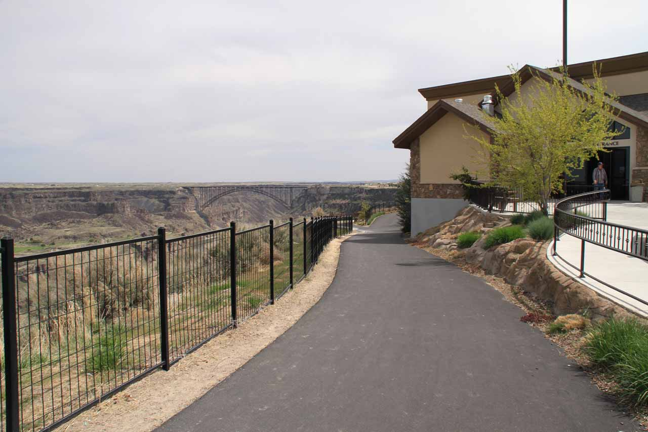 The Canyon Crest Walkway, which was sandwiched between the Snake River Canyon and some businesses