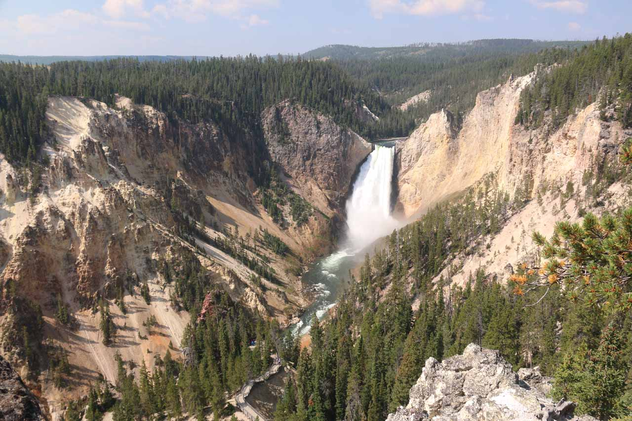 3. LOWER FALLS (OF THE YELLOWSTONE RIVER) [Yellowstone National Park, Wyoming]