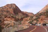 Canyon_Overlook_Trail_002_04042018 - The tight parking lot alongside the UT9 near the Zion-Mt Carmel Tunnel for the Canyon Overlook Trail
