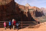 Canyon_Overlook_Trail_061_04042018 - Julie and the kids checking out the Canyon Overlook view at the end of the trail