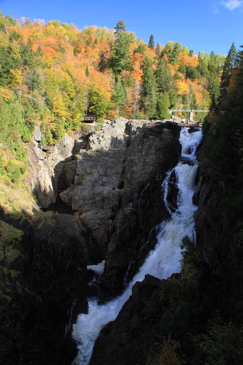 View of Chute Sainte-Anne from one of the overlooks on the near side of Canyon Sainte-Anne