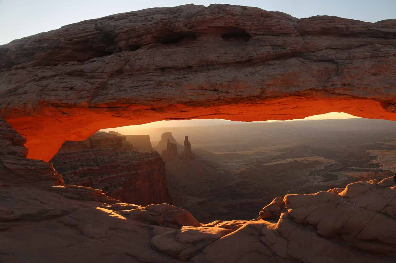 Not to be outdone, but Moab was also the base for visits to the Island in the Sky District of Canyonlands National Park, where the sunrise at Mesa Arch had become quite the photo event in recent years