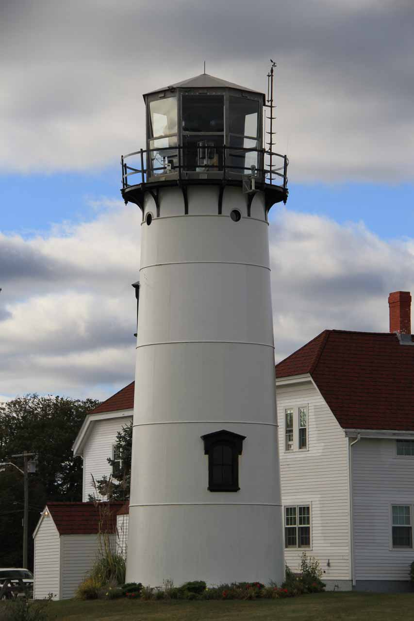 Looking back at Chatham Light