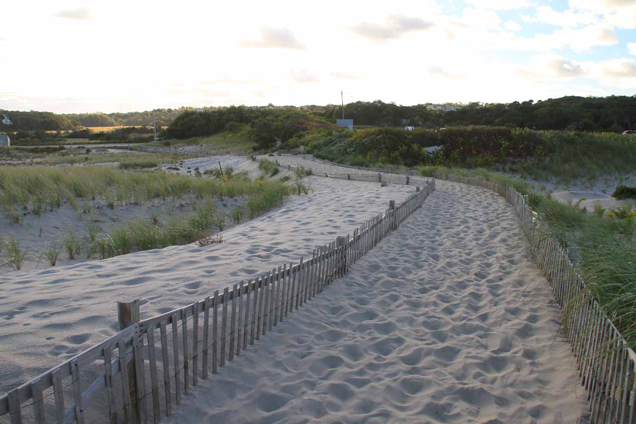 A separate walkway to Nauset Beach
