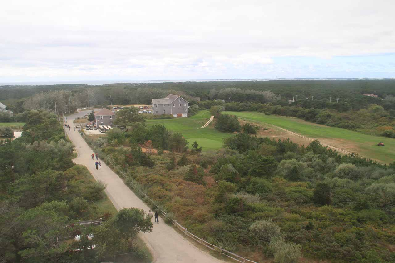 Looking back towards the car park from Highland Light