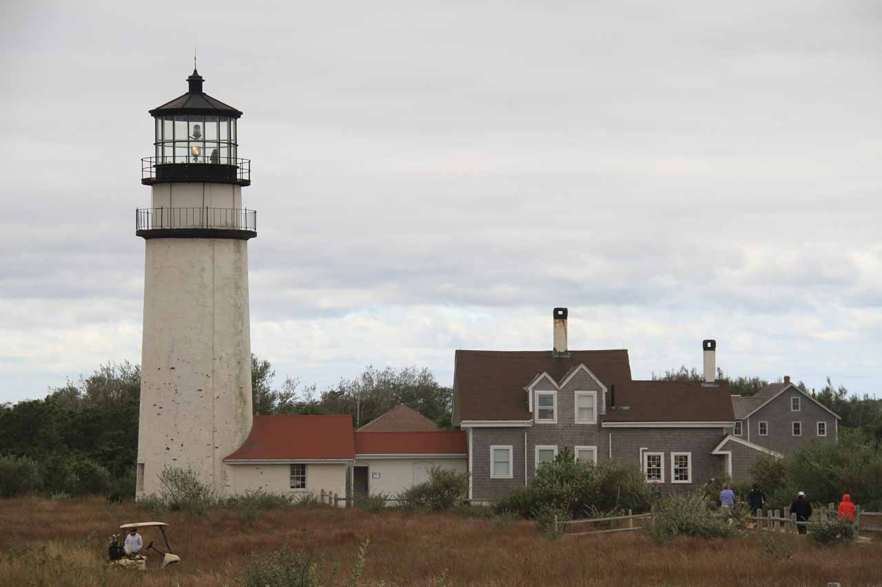 Looking back at Highland Light from the viewpoint
