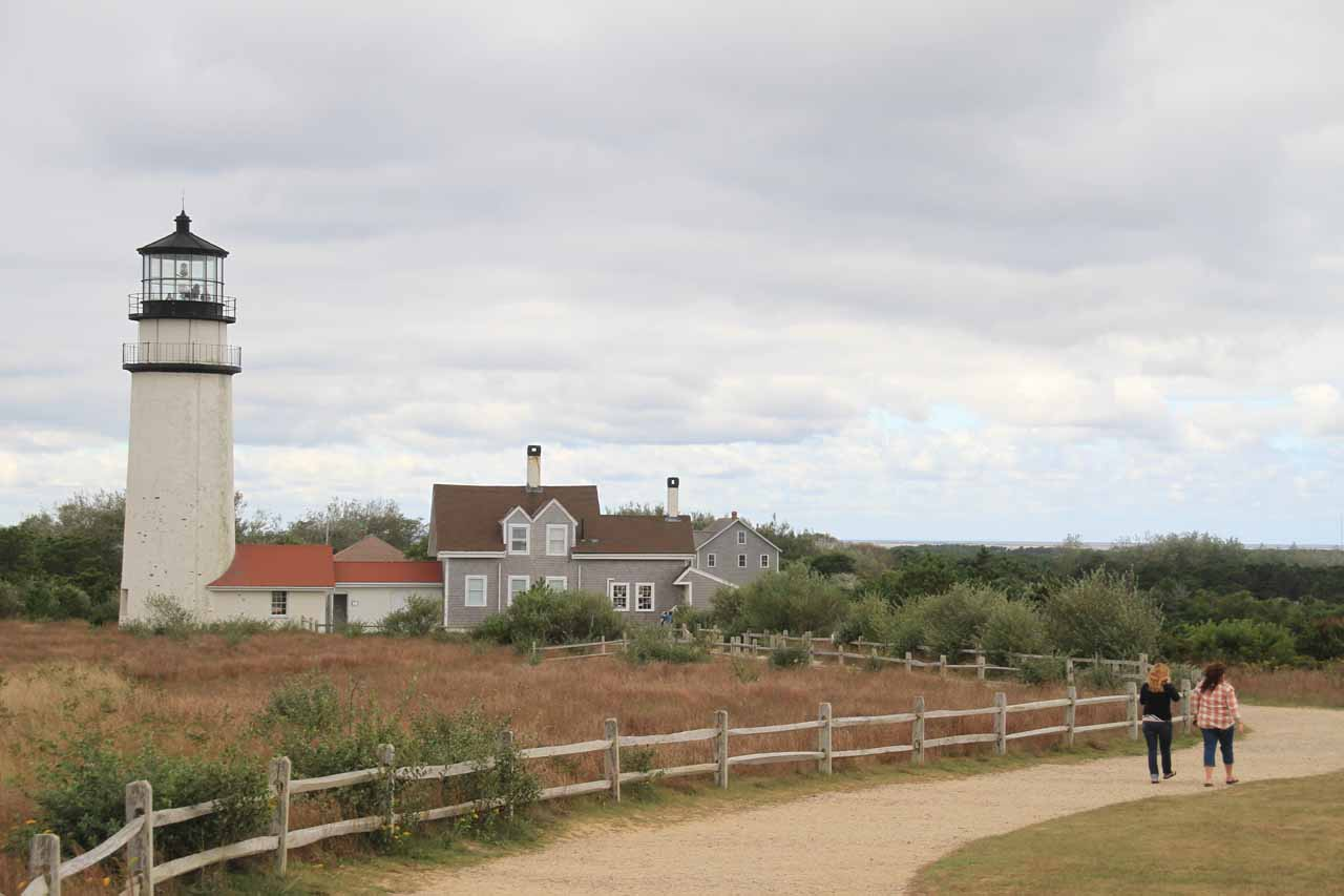 Walking back around the Highland Light