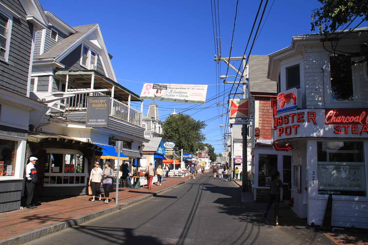 Commercial Street in Provincetown