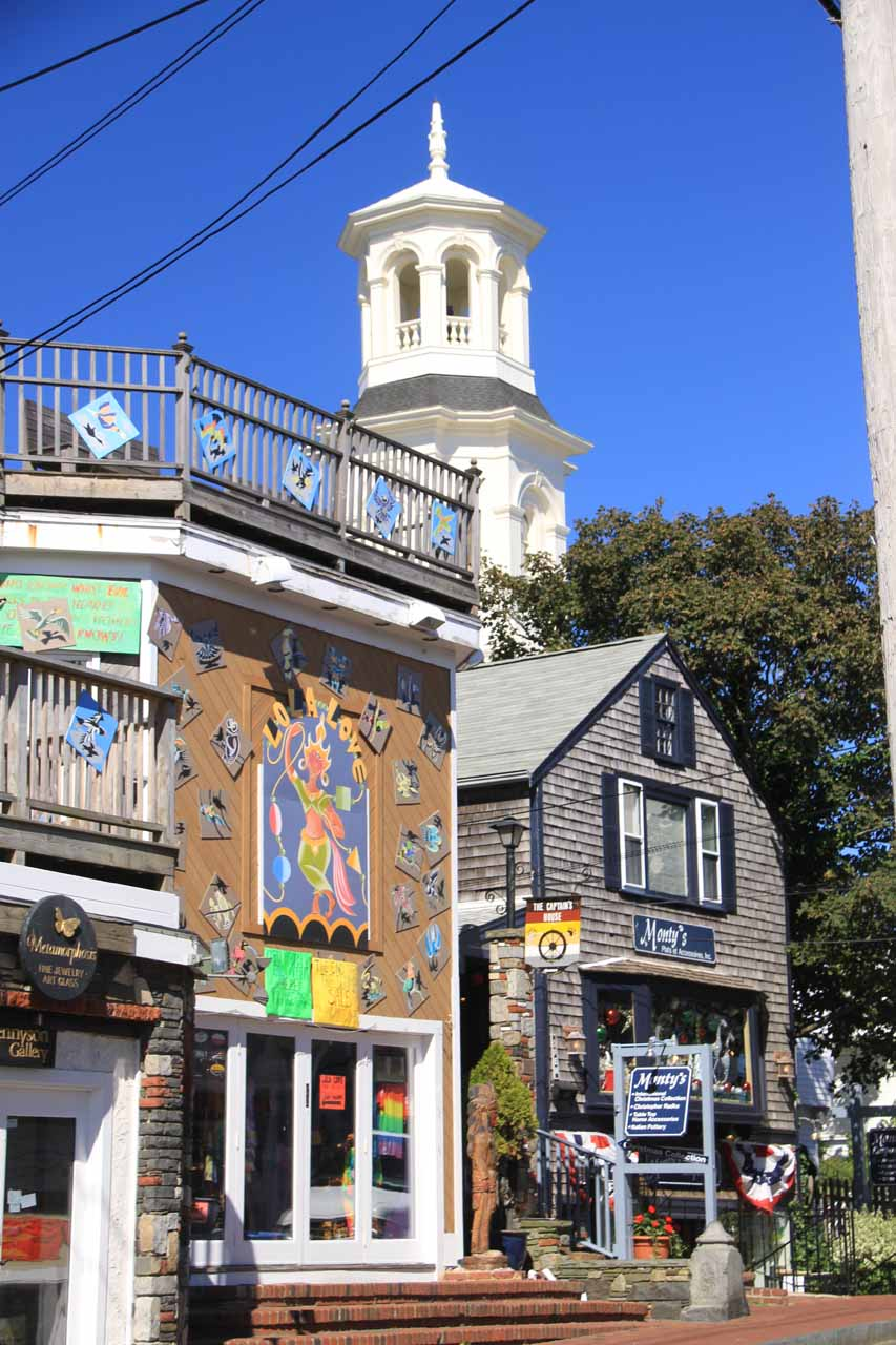 Some buildings at Commercial Street in Provincetown
