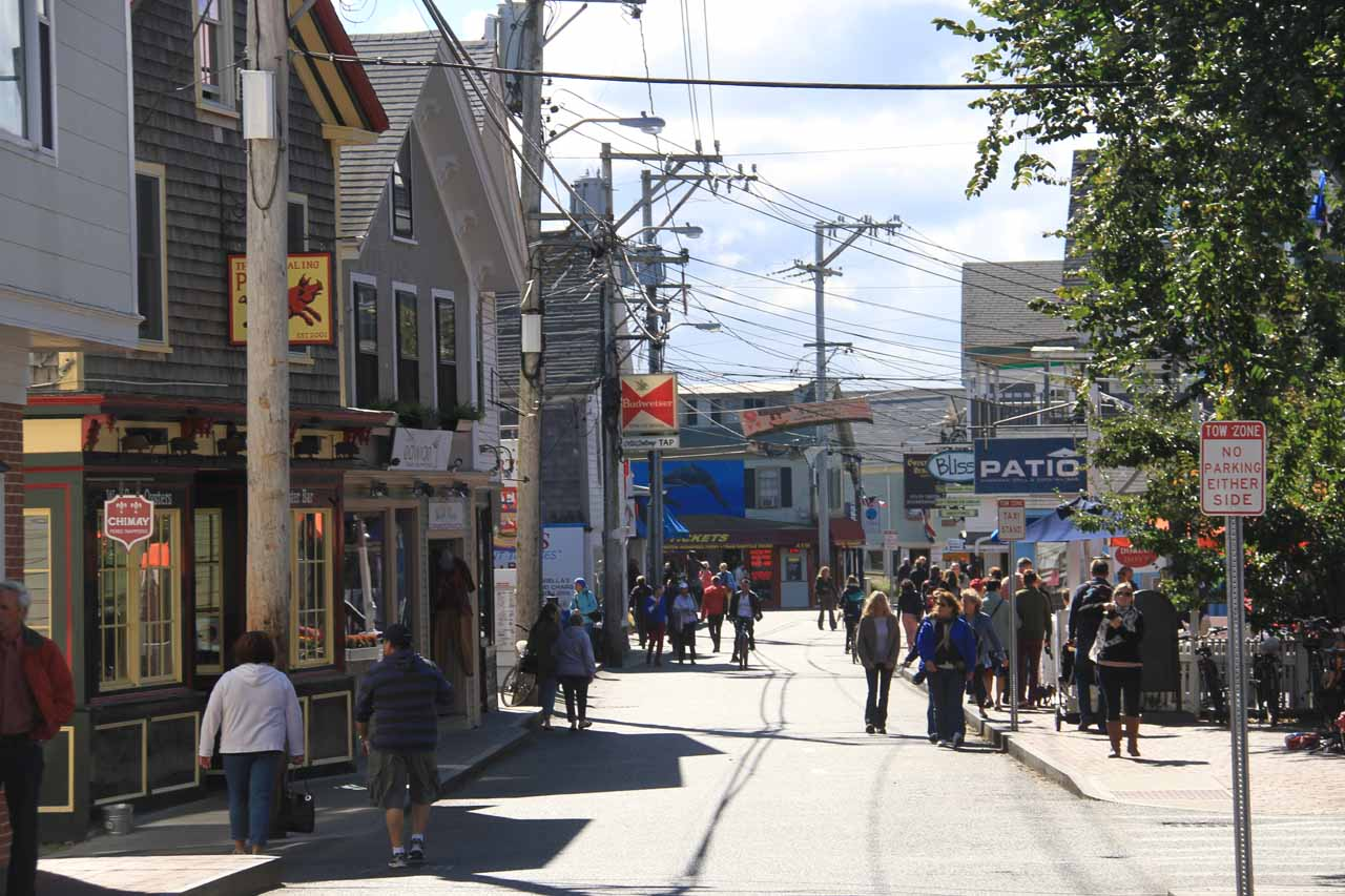 Looking in the other direction on Commercial Street in Provincetown