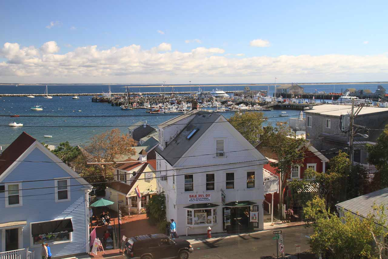 View of the harbor from within the P-town Library