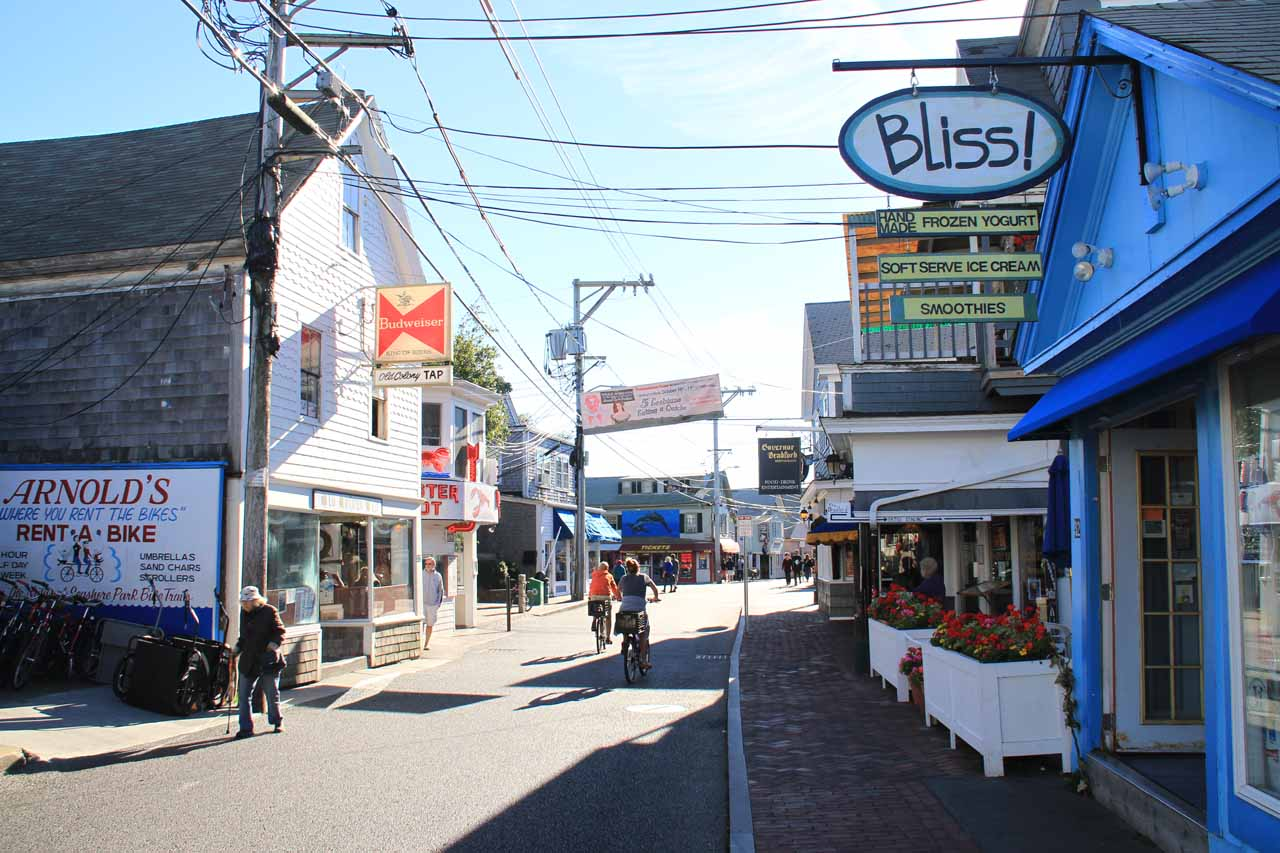 The happening Commercial Street in Provincetown