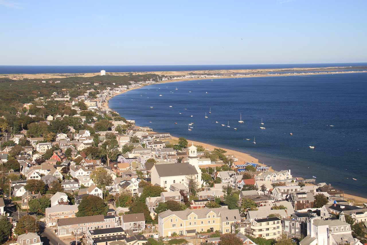 View of the harbor from the base of the Pilgrim Monument