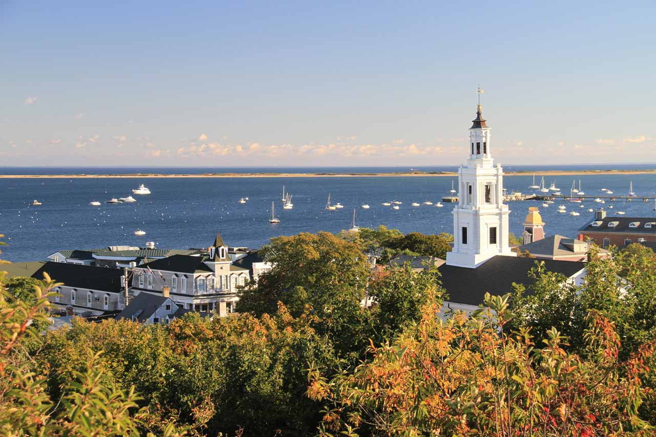 Another attractive view of the Provincetown Harbor from the base of the Pilgrim Monument