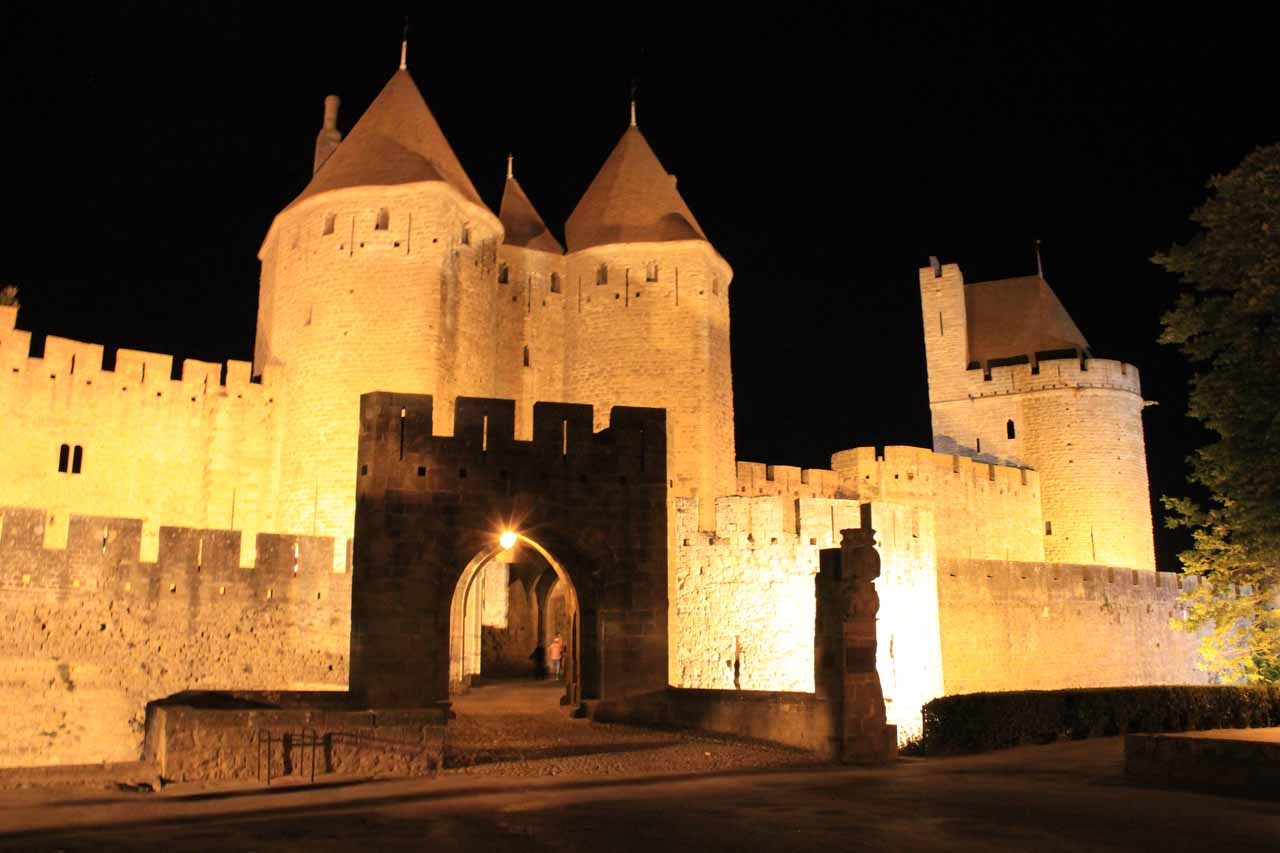 After we visited Cascade d'Ars, we spent the night at Carcassonne, which was a charming medieval city that harbored castles