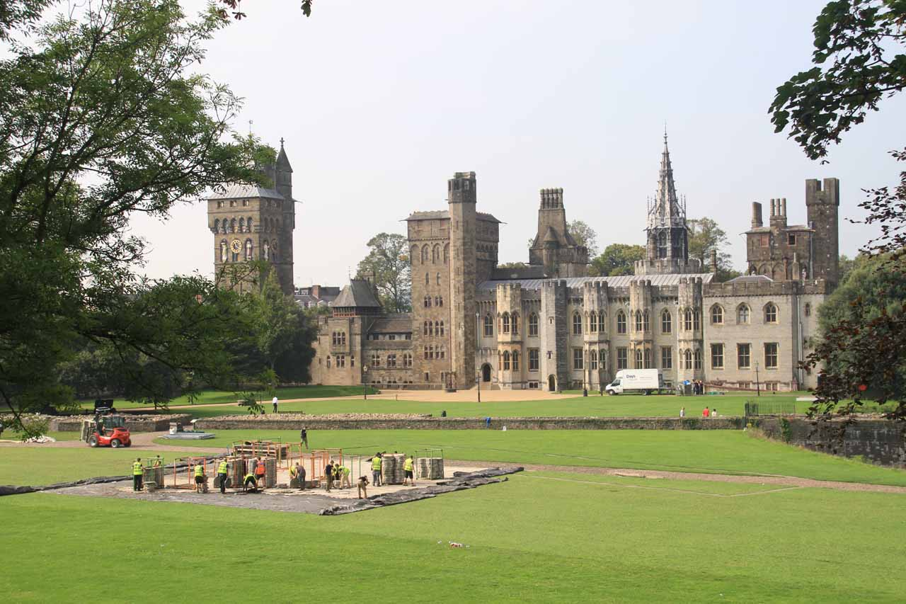 We based ourselves in the city of Cardiff, which featured the impressive Cardiff Castle seen here while clean up crews tried to undo the festivities from the NATO Summit the night before