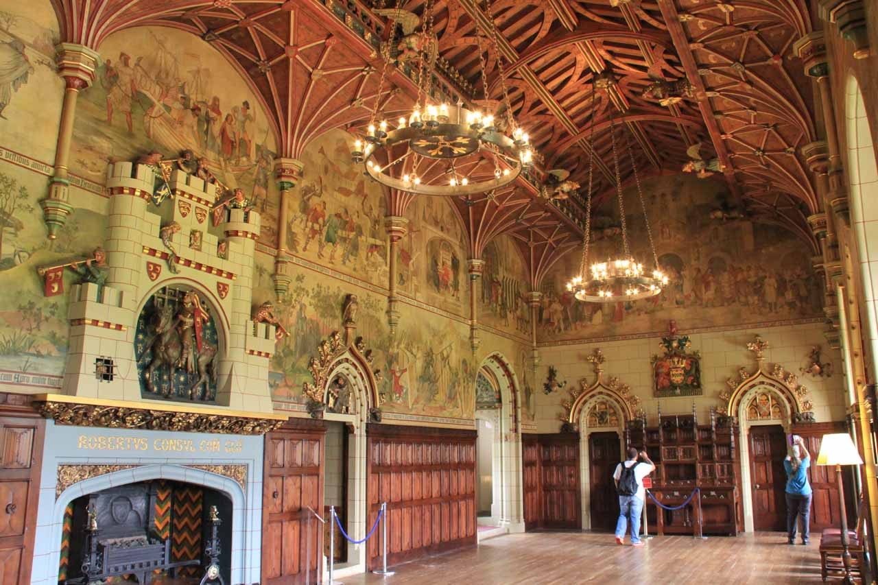 While on the topic of NATO Summit, the employees working at Cardiff Castle said that this room was where the NATO dignitaries had dinner the night before our visit