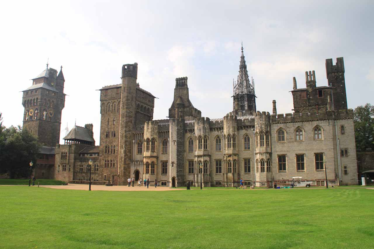 Cardiff, the capital of Wales, was not far from the Brecon Beacons.  The city featured Cardiff Castle, which was actually a series of buildings enclosed by the castle wall such as this palace