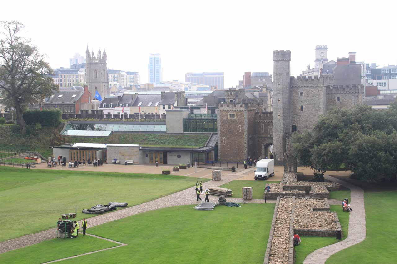 Cardiff, the capital of Wales, was about an hour from Melincourt Falls.  The city featured Cardiff Castle, which was the city's main attraction