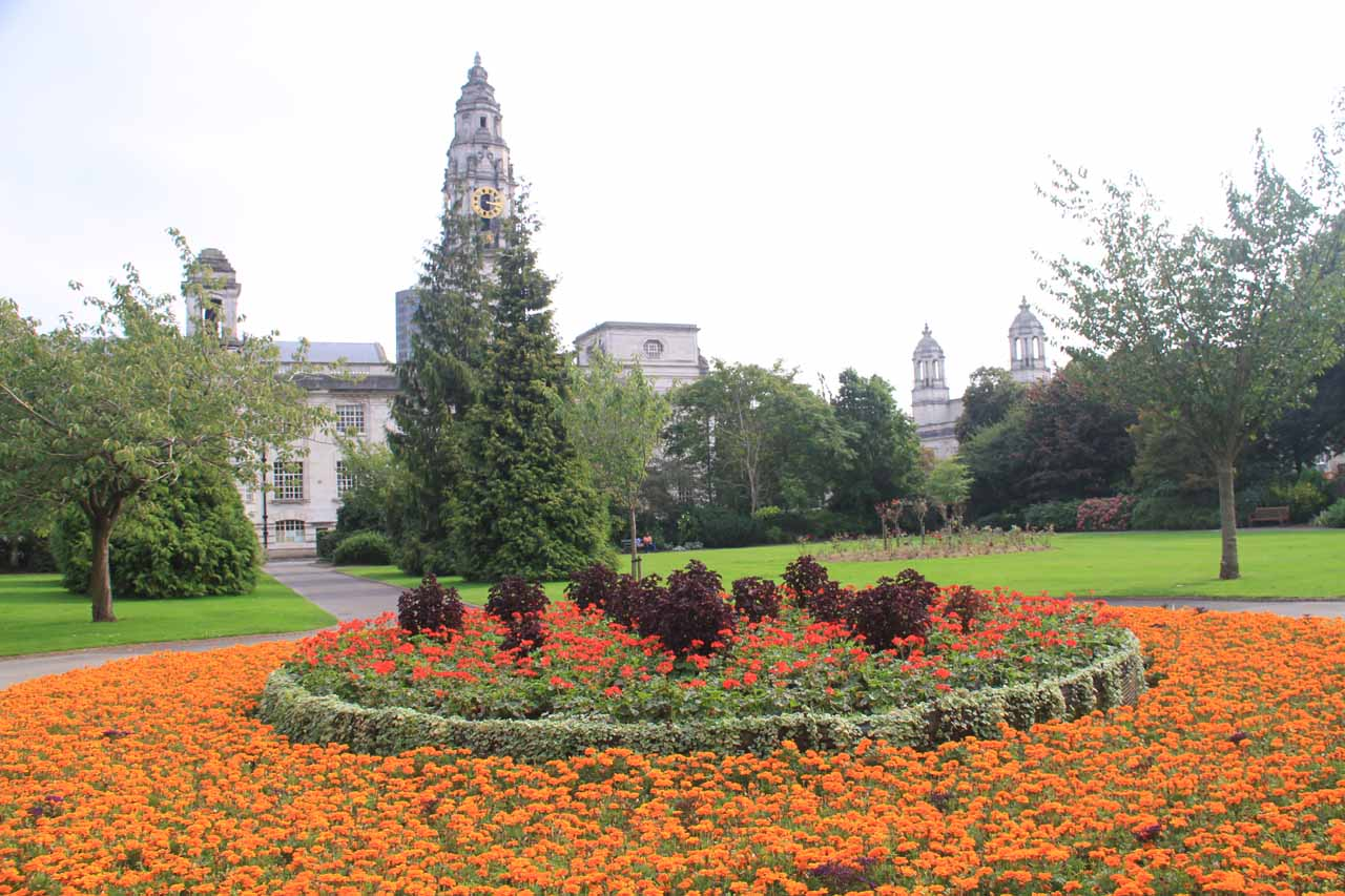 The Cardiff City Centre was also quite interesting thanks to its pedestrian streets as well as places like the Alexandra Garden shown here, near the museum and city hall