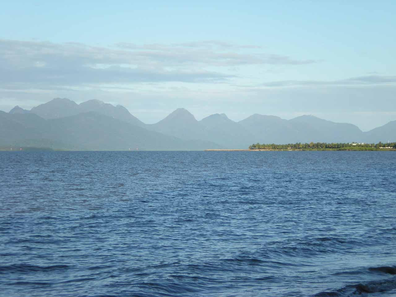 While visiting Jourama Falls and other neighboring waterfalls, we had stayed in Cardwell where we got these views towards the remote Hinchinbrook Island