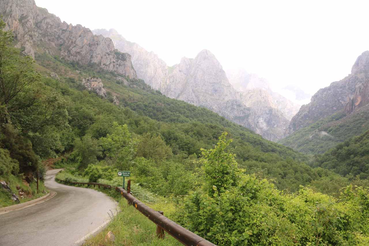 The dramatic mountain scenery between Posada de Valdeon and Cain de Valdeon