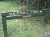 Carisbrook_Falls_001_jx_11152006 - Sign at the start of the short track to Carisbrook Falls as seen during our first visit in November 2006