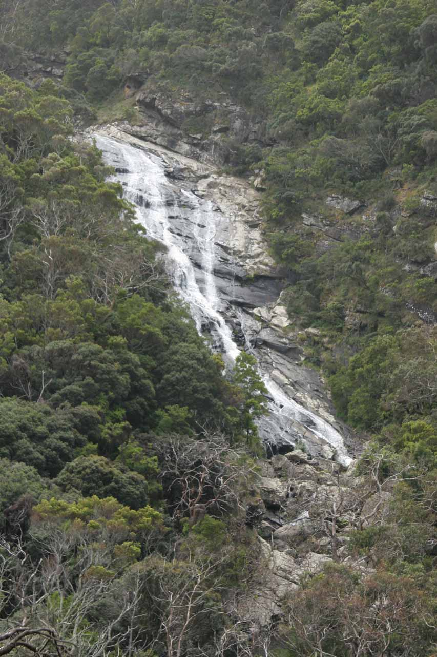 Zoomed in look at Carisbrook Falls