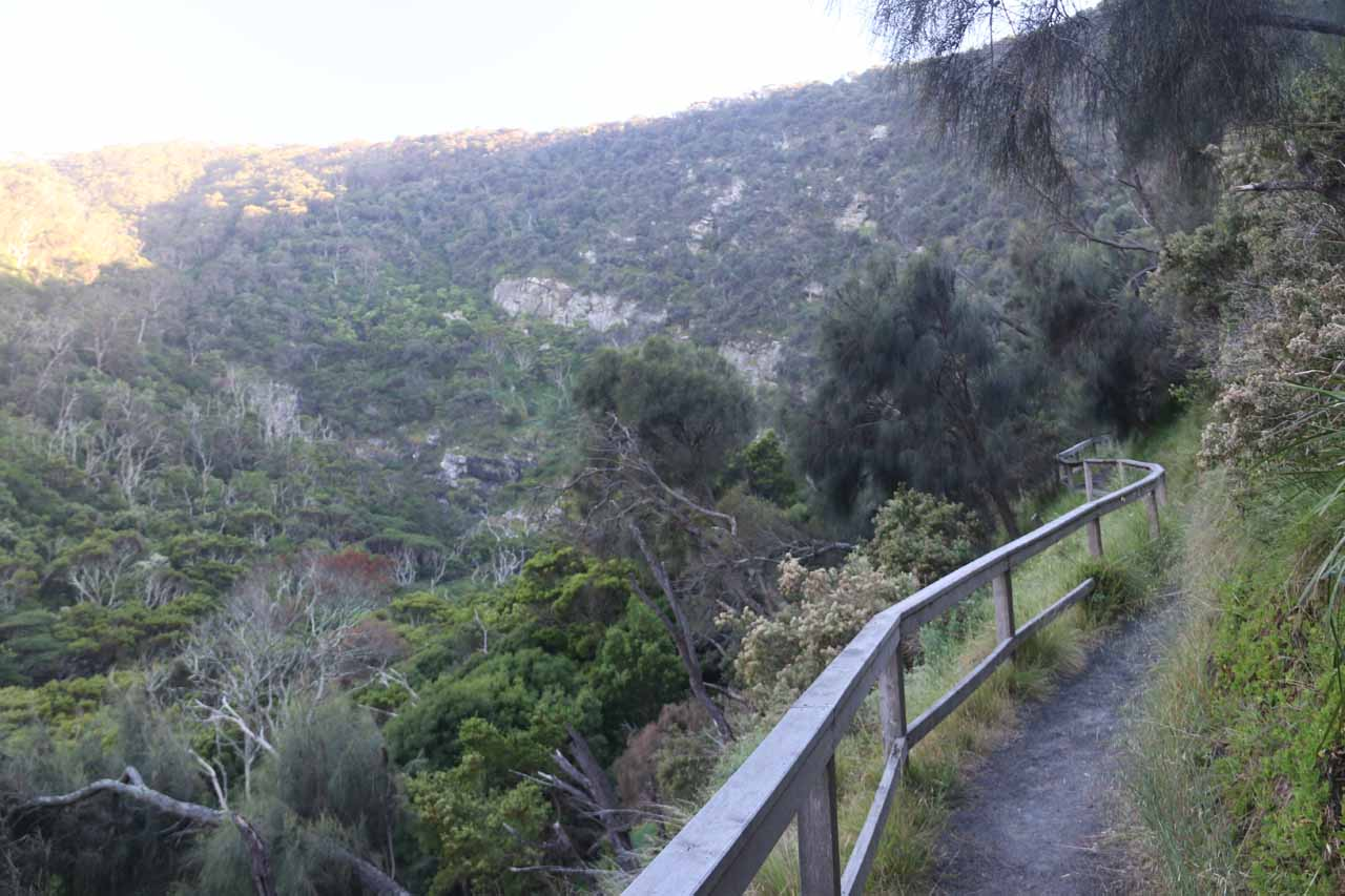 Continuing along the short ascent to the end of the track for Carisbrook Falls