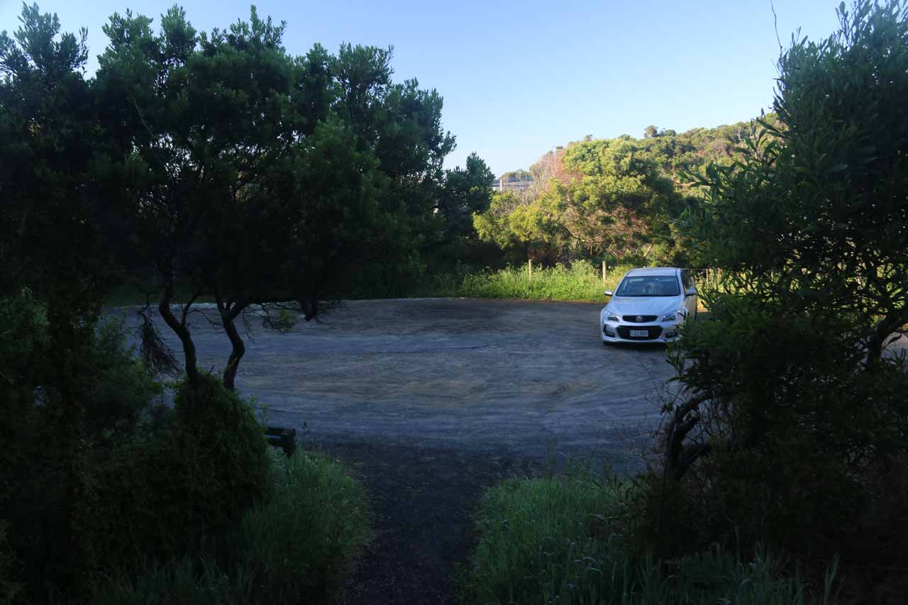 Back at the car park for Carisbrook Falls
