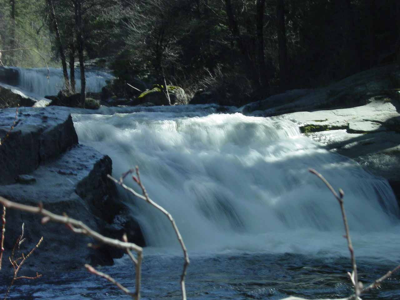 Checking out more cascades further downstream of Carlon Falls in 2004