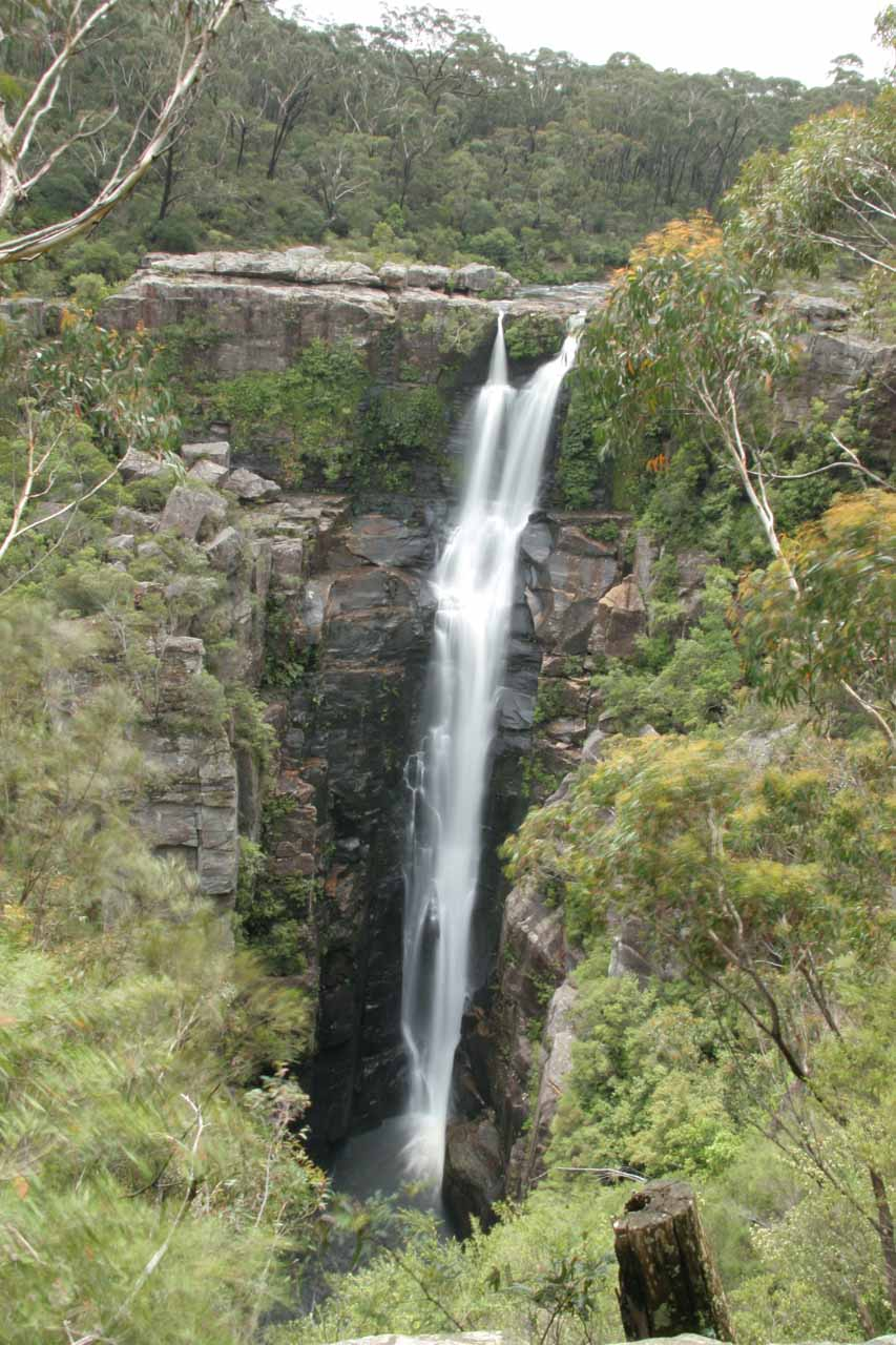 Our first look at Carrington Falls from the main lookout