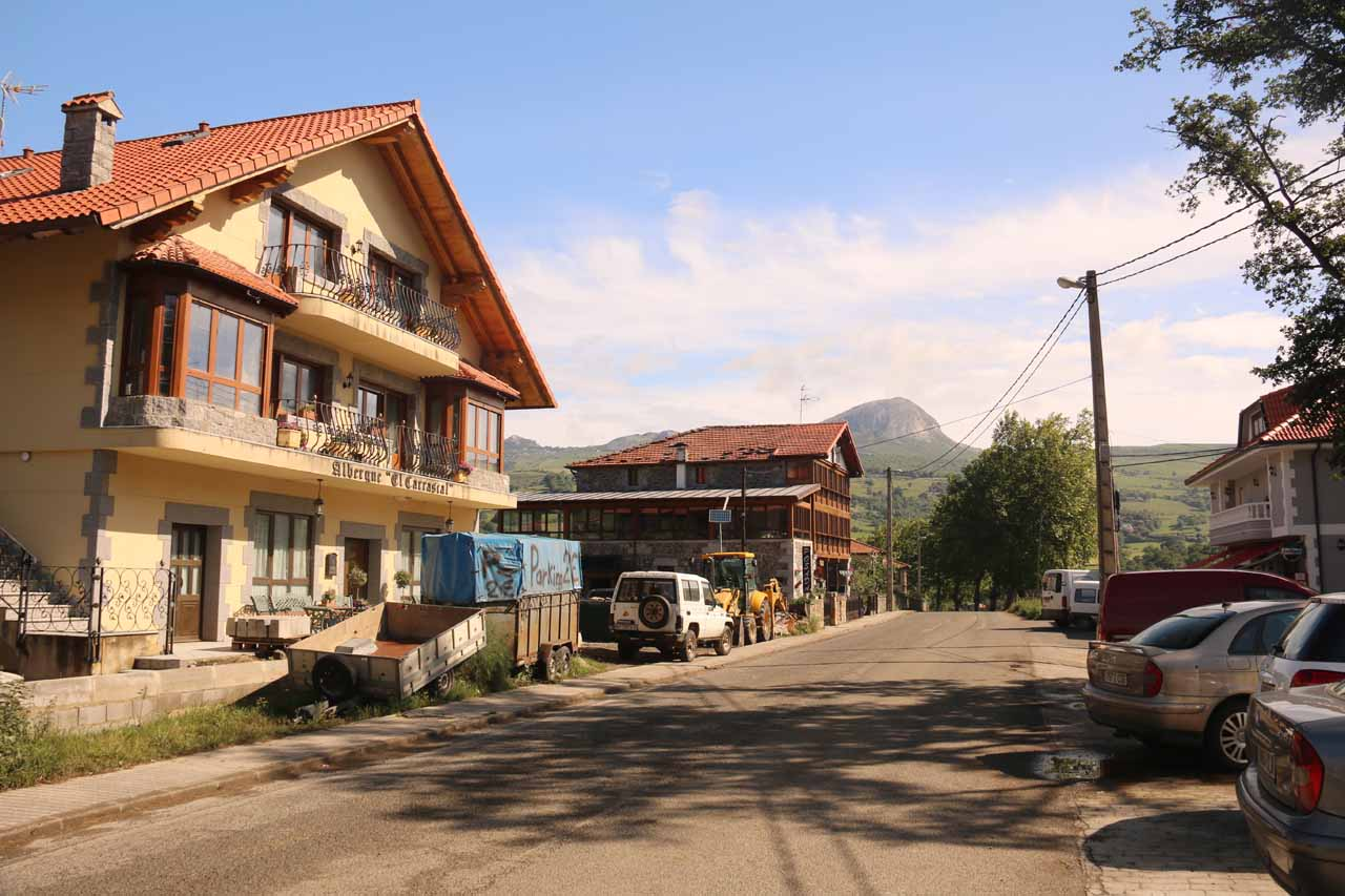 At the town of La Gandara and somewhere next to Los Collados del Ason Interpretive Center