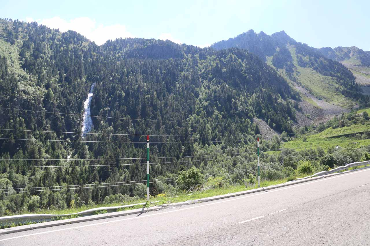 This was the view of the Cascada de Gerber from the C-28 road