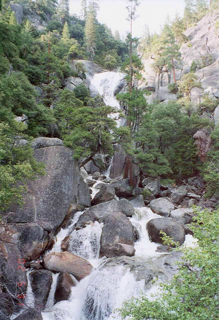 Closer look at the Upper Cascades from the bridge over Cascade Creek