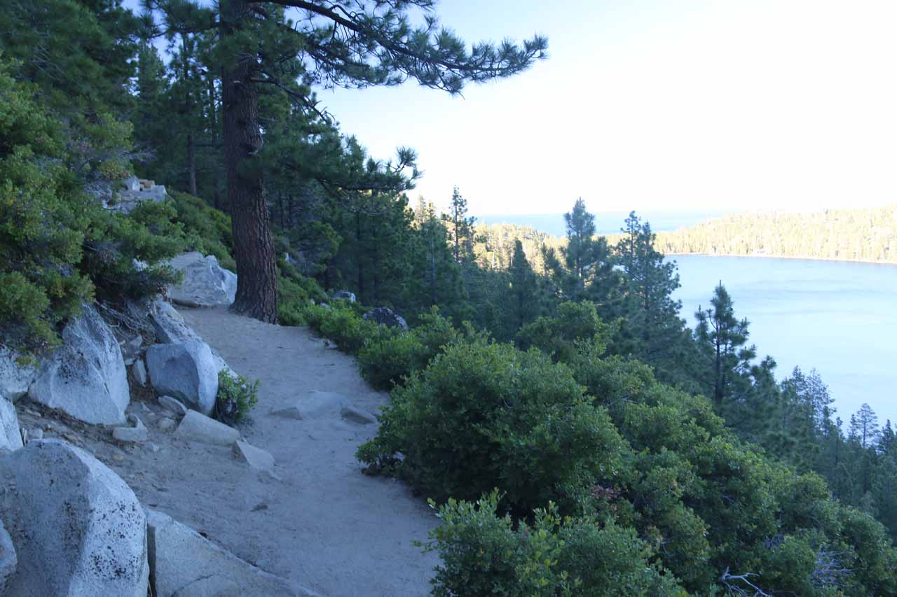 When we looked over our shoulders, we could start to see Cascade Lake and Lake Tahoe