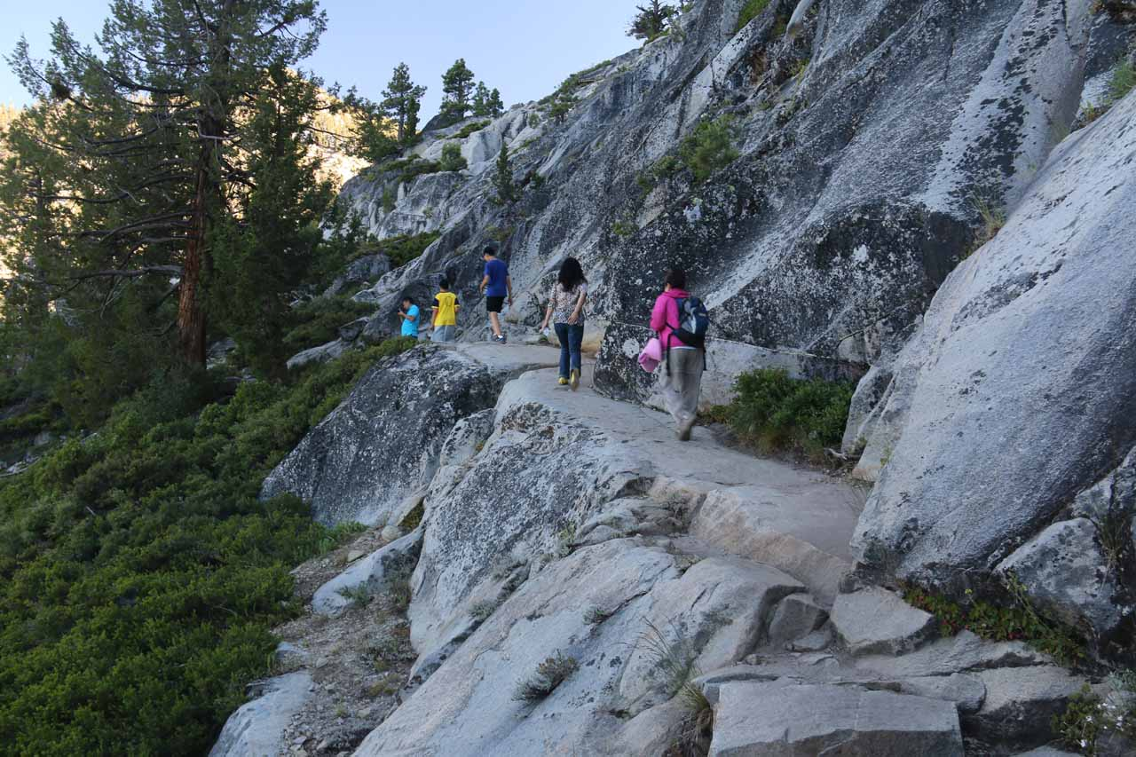 As the trail started to narrow and hug granite ledges, even the trail itself was becoming scenic and memorable